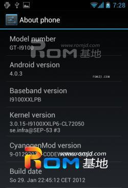 [IML74K][4.0.3] CyanogenMod 9 experimental BuildROM刷机包截图