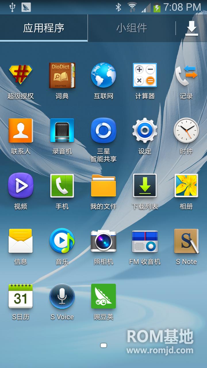 4月清爽来袭 GT-N7100 刷机包 CHN_ZCUENB1_4.3系统_原生_精简_流畅_清爽